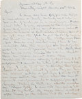 Autographs:Military Figures, Confederate General Daniel H. Hill Autograph Letter Signed...