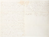 """Confederate General Eppa Hunton Autograph Letter Signed and Addressed to """"Jeff. Davis Presdnt. C. States"""