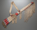 American Indian Art:Beadwork and Quillwork, A PLATEAU BEADED HIDE GUN CASE. c. 1880...