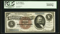 Large Size:Silver Certificates, Fr. 263 $5 1886 Silver Certificate PCGS Choice About New 55PPQ.. ...