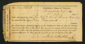 Confederate Notes:Group Lots, Interim Depository Receipt Hillsboro, NC- $500 April 1, 1864Tremmell NC-69.. ...