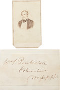 Photography:CDVs, Confederate General William Barksdale Carte de Visite and Clipped Signature.... (Total: 2 )