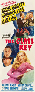 "Movie Posters:Film Noir, The Glass Key (Paramount, 1942). Insert (14"" X 36"").. ..."