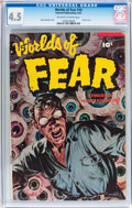 Golden Age (1938-1955):Horror, Worlds of Fear #10 (Fawcett Publications, 1953) CGC VG+ 4.5Off-white to white pages....