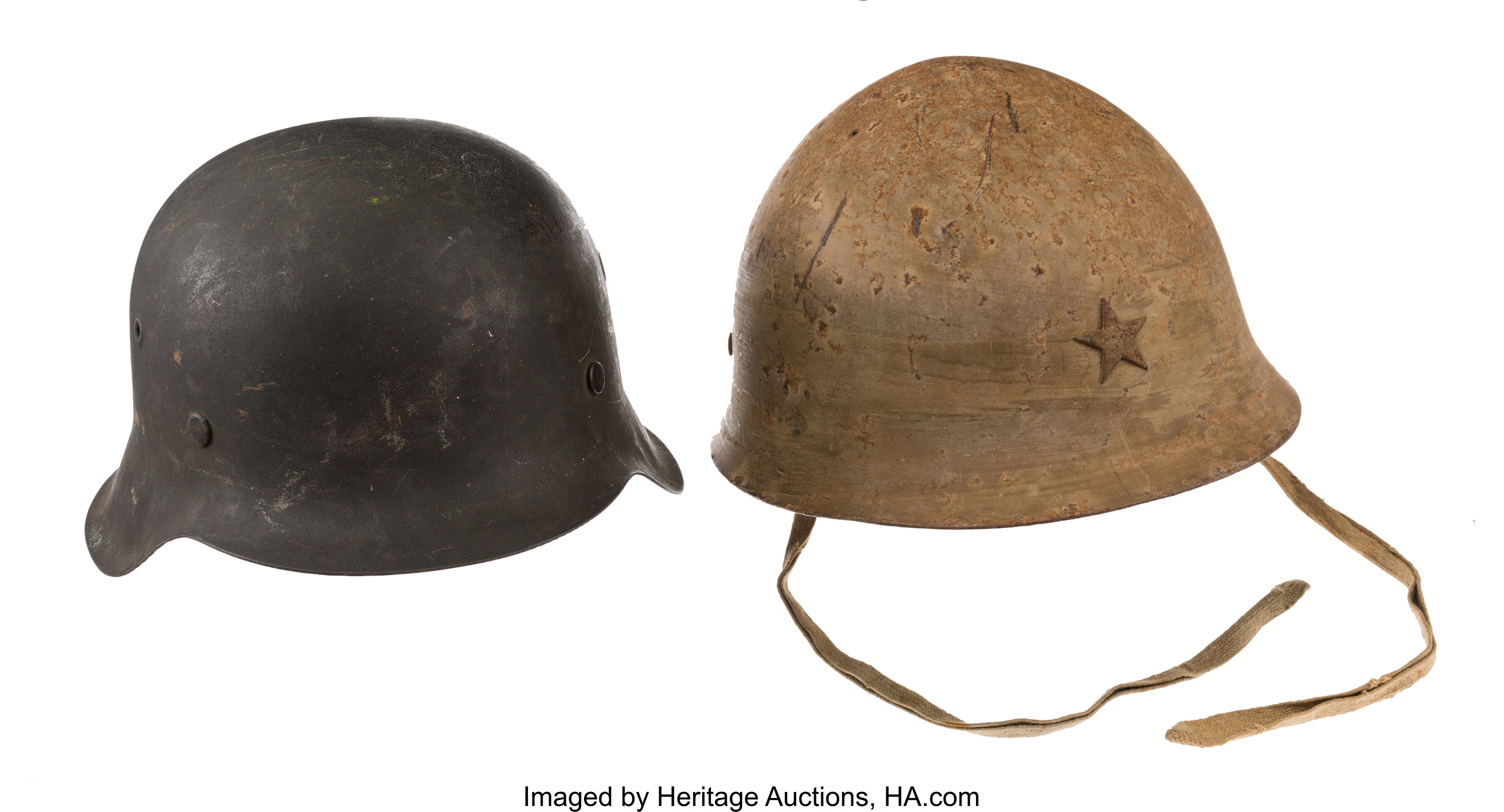 WWII Japanese and German Helmets     (Total: 2 Items) Military