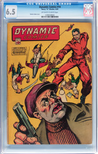 Dynamic Comics #14 (Chesler, 1945) CGC FN+ 6.5 Off-white to white pages