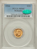 Commemorative Gold, 1916 G$1 McKinley MS66 PCGS. CAC....