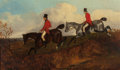 Fine Art - Painting, European:Antique  (Pre 1900), JOHN DALBY (British, 1810-1865). Edward Lister on BrownHorse, circa 1855. Oil on canvas. 9 x 15 inches (22.9 x 38.1cm)...