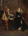 Fine Art - Painting, European:Antique  (Pre 1900), Attributed to FREDERICK RICHARD PICKERSGILL (British, 1820-1900).Mary Queen of Scots Receiving Her Letter of Abdication, ...