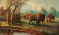 Fine Art - Painting, American:Modern  (1900 1949)  , A.D. GREER (American, 1904-1998). Buffalo, 1933. Oil onboard. 48 x 72 inches (121.9 x 182.9 cm). Signed and dated lower...