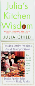 Books:Food & Wine, [Cookbooks]. Julia Child. SIGNED. Julia's Kitchen Wisdom.New York: Alfred A. Knopf, 2000. First edition. Octavo. Pu...(Total: 2 Items)