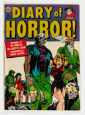Golden Age (1938-1955):Horror, Diary of Horror #1 (Avon, 1952) Condition: GD/VG....