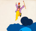 "Music Memorabilia:Original Art, Beatles Yellow Submarine ""John Lennon and a Blue Meanie"" Animation Production Cel Original Art (United Artists/Kin..."