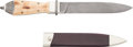 Edged Weapons:Knives, Damascus San Francisco-Style Dress Bowie Knife by Jon Christensen....