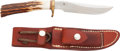 """Edged Weapons:Knives, Randall Model 7 """"Fisherman/Hunter"""" Bowie Knife with Scabbard...."""
