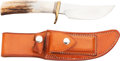 """Edged Weapons:Knives, Randall Model 21 """"Little Game"""" Bowie Knife and Scabbard...."""
