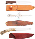 Edged Weapons:Knives, Lot of Three Hunting Knives.... (Total: 3 Items)