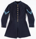 Military & Patriotic:Civil War, Rare Civil War Infantry Color Corporal's Enlisted Frock Coat...
