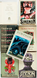 Books:Mystery & Detective Fiction, [Georges Simenon]. Group of Seven Inspector Maigret Novels byGeorges Simenon. Various publishers and dates. Publisher's bin...(Total: 6 Items)