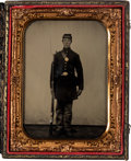 Military & Patriotic:Civil War, Spectacular ½ Plate Tintype of Clarkson Fogg, Company E, 4th West Virginia Infantry Killed at Vicksburg, May 19, 1863....