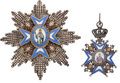 Militaria:Insignia, Pair of Serbian Orders Including the Order of St. Sava Grand Cross Breast Star and Order of St. Sava Commander.... (Total: 2 )