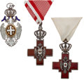 Militaria:Insignia, Three Serbian Medals, Order of the White Eagle and Two Red Cross Medals.... (Total: 3 )