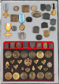 Military & Patriotic:WWI, Large Lot of Fifty-four Austrian WWI Patriotic Badges and Military Trade Badges.... (Total: 55 )