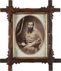 Photography:Studio Portraits, Oval Albumen Civil War Period Portrait of Lt. Hiram Upson, 7th Connecticut Vol. Inf., Killed at James Island, S.C. ...