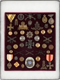 Military & Patriotic:WWI, Large Group of German, British, U.S. and Other Countries MilitaryInsignia....