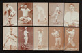 Baseball Cards:Sets, 1939-46 Salutation Exhibits (32) With Rare Subjects. ...