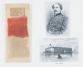 Military & Patriotic:Civil War, Incredibly Important Historic Fragment of the Fort Sumter Flag Presented by Captain Abner Doubleday to General George Cadwala...