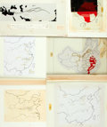 Books:Maps & Atlases, [Maps/China]. Group of Six Maps of China. Various sizes, largest measures approximately 13 x 15 inches. Ink-stamps and ink/p...
