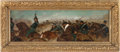 Military & Patriotic:Civil War, [Artist Unknown] Superb Original Oil Painting of a Union Cavalry Charge, Late 19th to Early 20th Century....
