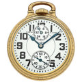 Timepieces:Pocket (post 1900), Elgin B.W. Raymond Up/Down Wind Indicator Pocket Watch. ...