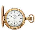 Timepieces:Pocket (post 1900), Elgin Fancy Hunting Hunter's Case Pocket Watch. ...