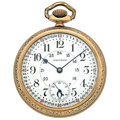 "Timepieces:Pocket (post 1900), Rare Waltham 17 Jewel With 24-Hour Dial Pocket Watch ""CanadianPacific Railroad"". ..."