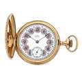 Timepieces:Pocket (post 1900), Waltham With A Rare O'Hara Dial Hunter's Case Pocket Watch. ...