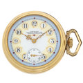 Timepieces:Pocket (pre 1900) , Waltham With Fancy Dial Pocket Watch. ...