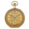 Timepieces:Pocket (post 1900), Gruen Veri-Thin 14k Gold Pocket Watch. ...