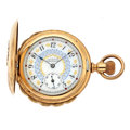 Timepieces:Pocket (post 1900), Waltham Fancy Dial Hunter's Case Pocket Watch. ...