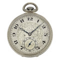 Timepieces:Pocket (post 1900), Hamilton 14k Gold Open Face Pocket Series 912 Pocket Watch. ...