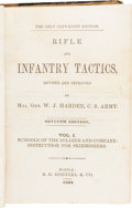 Books:Americana & American History, Confederate Imprint: Rifle and Infantry Tactics, Revised andImproved by Maj. Gen. W. J. Hardee, C. S. Army. Volumes...(Total: 2 Items)