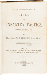Confederate Imprint: Rifle and Infantry Tactics, Revised and Improved by Maj. Gen. W. J. Hardee, C. S. Army