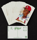 Baseball Collectibles:Others, Lou Brock Signed Perez Steele Postcards Lot of 50....