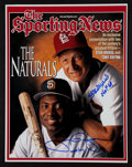 Baseball Collectibles:Photos, Tony Gwynn and Stan Musial Multi Signed Oversized Photograph....
