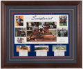 "Miscellaneous Collectibles:General, Ron Turcotte ""Secretariat"" Signed Display...."