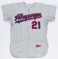 Baseball Collectibles:Uniforms, 1966 Albuquerque Dodgers #21 Game Worn Flannel Jersey. ...