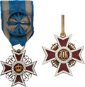 Militaria:Insignia, Two Rumanian Orders of the Crown.... (Total: 2 )