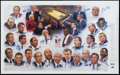 Basketball Collectibles:Others, Coaches Vs Cancer Multi Signed Lithograph....