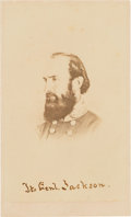 "Photography:CDVs, Thomas J. ""Stonewall"" Jackson Carte de Visite...."
